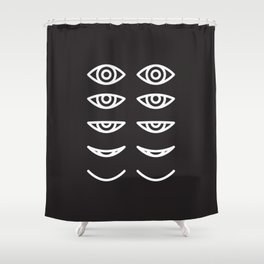 Eyes in Motion Shower Curtain