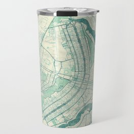 Brasilia Map Blue Vintage Travel Mug