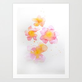 Peach Flowers Art Print