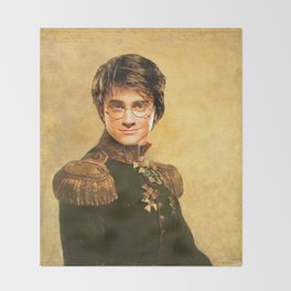 Harry General Portrait Painting | Fan Art Throw Blanket