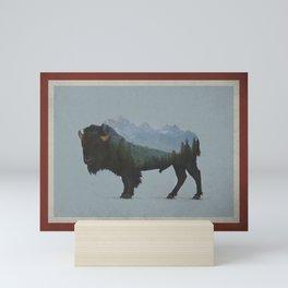 Wyoming Bison Flag Mini Art Print