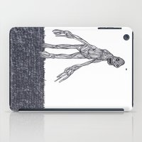 muscle iPad Cases featuring Muscle Man by Nick Gibney