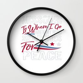 Missouri American Patriotic Memorial Day Wall Clock
