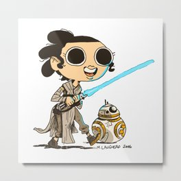 My Favorite Scavenger and Her Friend Metal Print