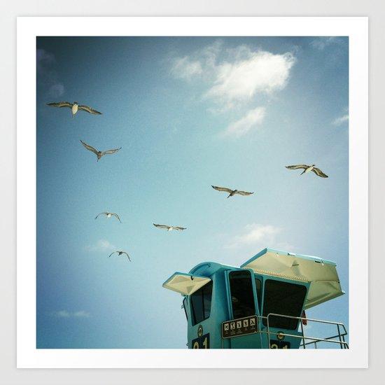 FLYING V, CARLSBAD, CA Art Print