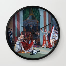 The Coronation of Donald Trump Wall Clock