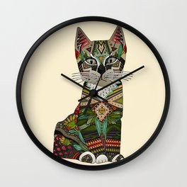 pixiebob kitten cream Wall Clock