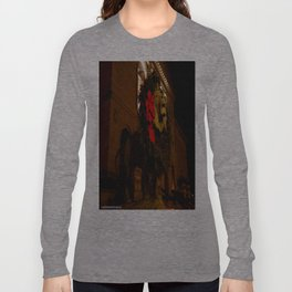 Chicago's Lions in Winter #3 (Chicago Christmas/Holiday Collection) Long Sleeve T-shirt
