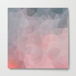 Soft geometric design Metal Print