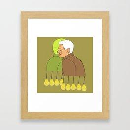 Golden lights modern pop art Framed Art Print