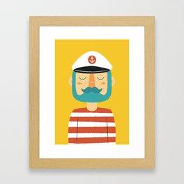 Ahoy Sailor Framed Art Print