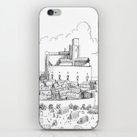 castle iPhone & iPod Skins featuring Castle by Mr.Willow