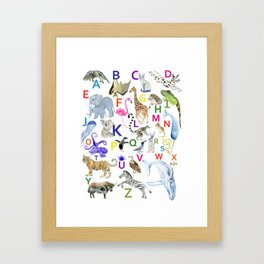 Animal Alphabet Framed Art Print