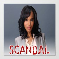 scandal Canvas Prints featuring SCANDAL by I Love Decor