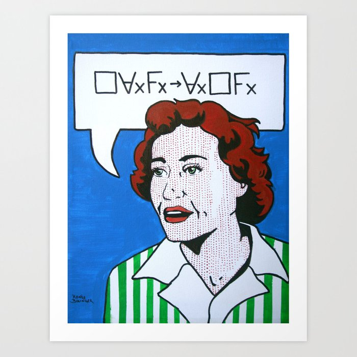 (Converse) Ruth Barcan Marcus Art Print