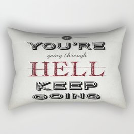 Churchill Quote Rectangular Pillow