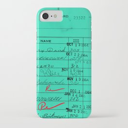 LIbrary Card 23322 Turquoise iPhone Case