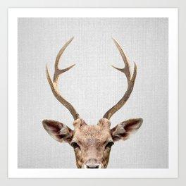 Deer - Colorful Art Print