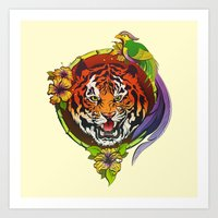 Totem animals: tiger Art Print