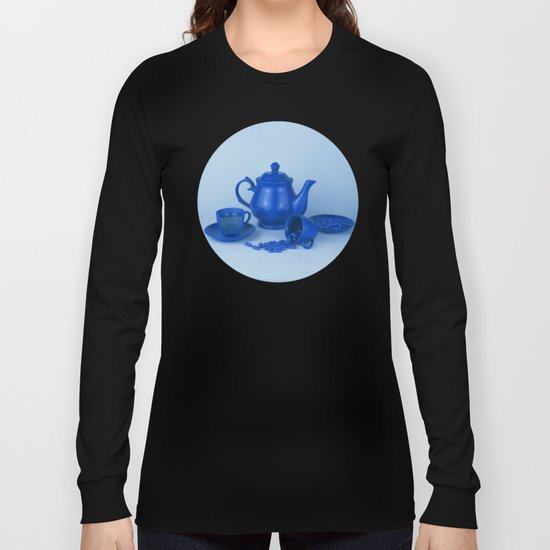 Blue tea party madness - still life Long Sleeve T-shirt