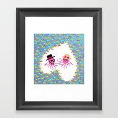 Valentine Octopus Framed Art Print