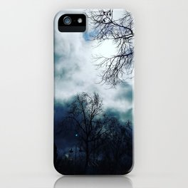 Cloudy skys iPhone Case