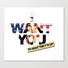 want you Canvas Print