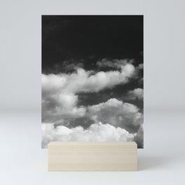 Clouds in black and white Mini Art Print