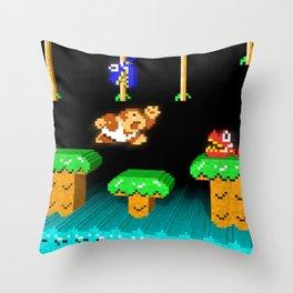 Inside Donkey Kong Junior Throw Pillow