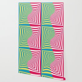 Colorful distorted Optical illusion art Wallpaper