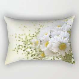 Bouquet of daisies in LOVE - Flower Flowers Daisy Rectangular Pillow