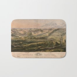 Gettysburg Battlefield July 1st, 2nd, 3rd 1863 Bath Mat