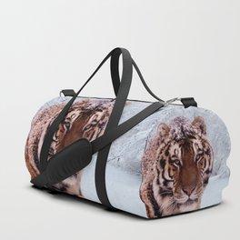 Tiger and Snow Duffle Bag