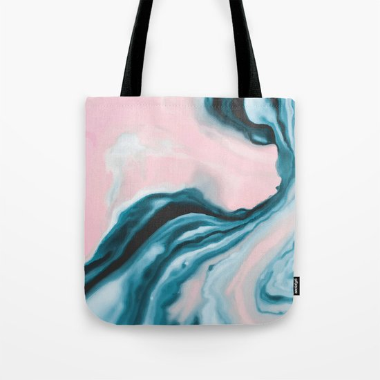 Pink and blue tide Tote Bag