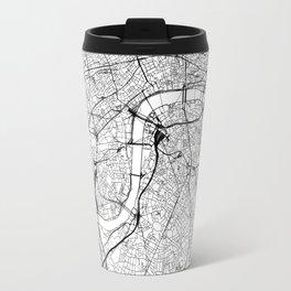 London White Map Travel Mug