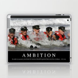 Ambition: Inspirational Quote and Motivational Poster Laptop & iPad Skin
