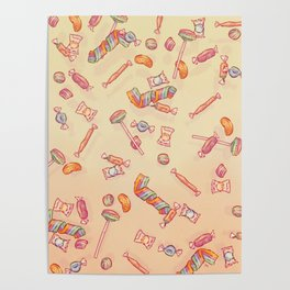 Candies Absolutely Everywhere Poster