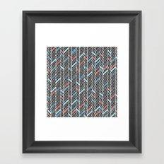 Herringbone Black and Blue #2 Framed Art Print