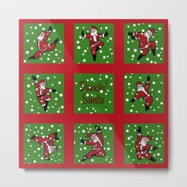 Dancing Santa pattern 2 Metal Print