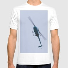 Chopper Above MEDIUM White Mens Fitted Tee