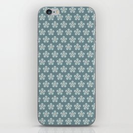 Flower Power surface pattern (blue) iPhone Skin