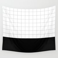 grid Wall Tapestries featuring GRID by aliceines
