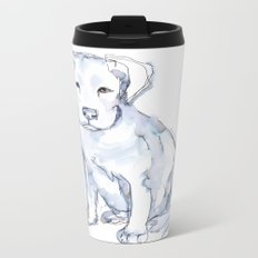 Pit Bull Puppy (for Kerry), watercolor Metal Travel Mug