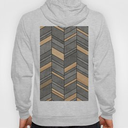 Abstract Chevron Pattern - Concrete and Wood Hoody