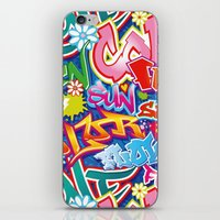 graffiti iPhone & iPod Skins featuring Graffiti by Helene Michau