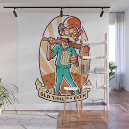 Drunkard Baseball PLAYER - Cinnabar RED Wall Mural