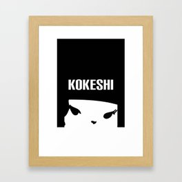Kokeshi Logo Square Design MORE BLACK Framed Art Print