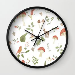 Forest Dream Pattern Wall Clock