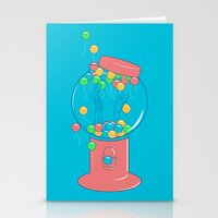 gumball Stationery Cards featuring Balloon, Gumball by Ava Guerrero