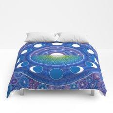 Moon Phase Mandala Comforters